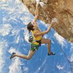 préparateur mental et grimpeuse en falaise
